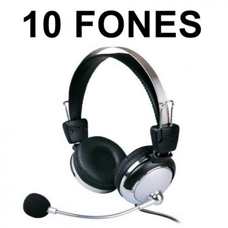 Fone de Ouvido Kit 10 Headset para Lan House Weile