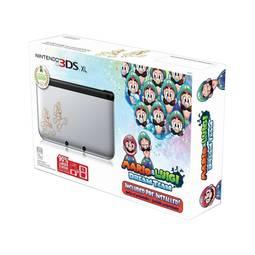 Console 3ds Xl Mario e Luigi Dream Team Prata 4gb + 1 Jogo