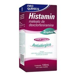 Histamin 2mg/5ml Liq Fr 100ml - Maleato de Dexclorfeniramina - Neo Quimica