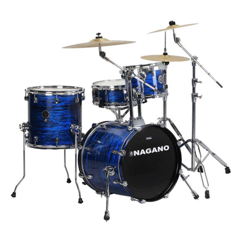 Bateria Acústica Nagano Brooklin Blue Azul