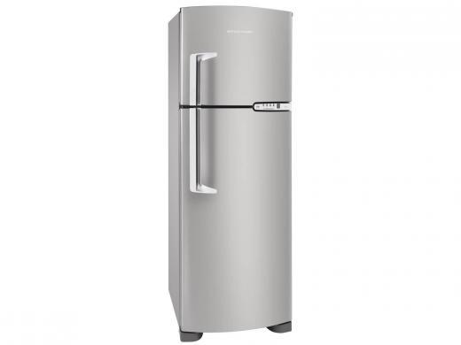 Geladeira refrigerador 352 litros 2 portas inox clean for Geladeira 2 portas inox