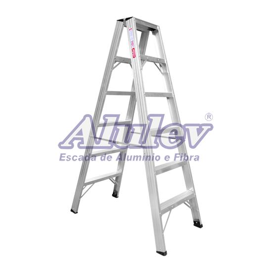 Escada de Alumínio 7 Degraus Ap107 Alulev
