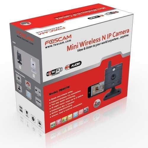 Câmera Foscam Ip Wireless Ir Preta - Fi8907w