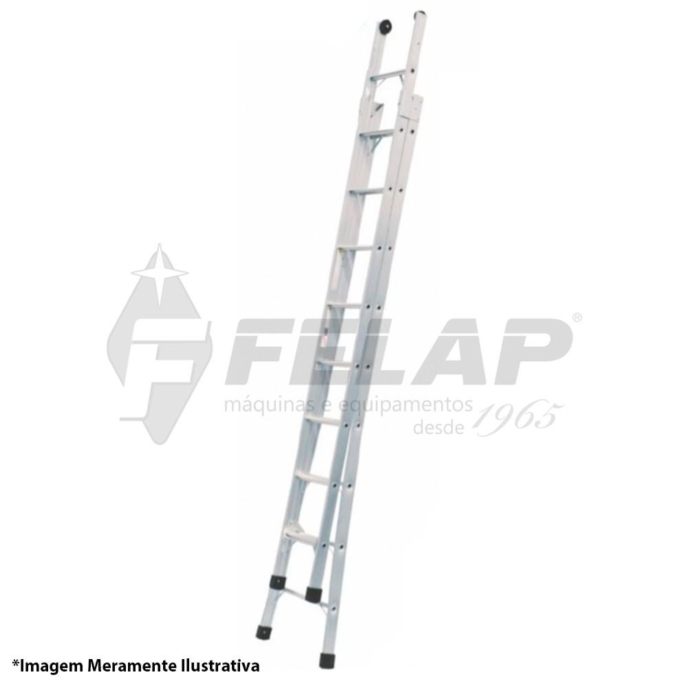 Escada de Alumínio 12 Degraus Ed112 Alulev