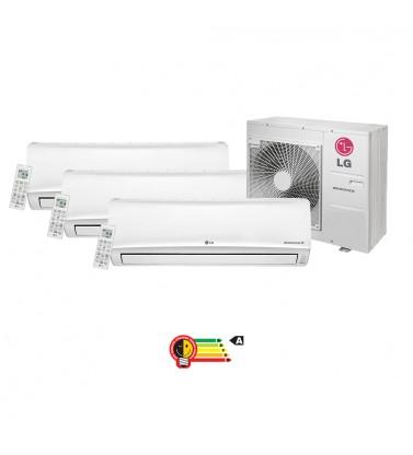 Ar Condicionado Multisplit Tri 36000 Btu(3x12000) Quente/frio - Inverter - Lg - 220v - A5uw30gfa0 / Amnw12geba0