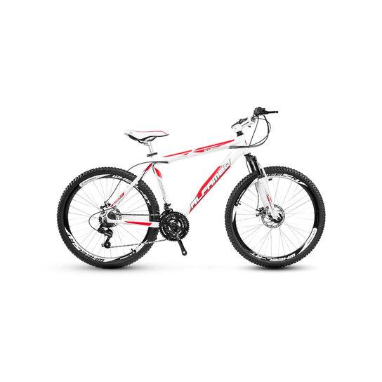 Bicicleta Alfameq Stroll Disc T17 Aro 26 Susp. Dianteira 24 Marchas - Branco/vermelho
