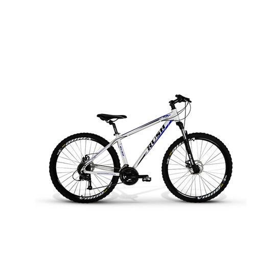 Bicicleta Rush Bike Aro 29 Susp. Dianteira 27 Marchas - Branco