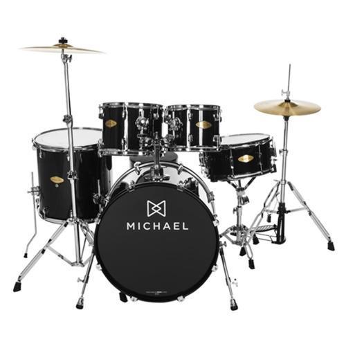 Bateria Acústica Michael Classic Preta - Dm843