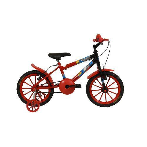 Bicicleta Nathor Baby Lux Aro 16 Rígida 1 Marcha - Preto/vermelho