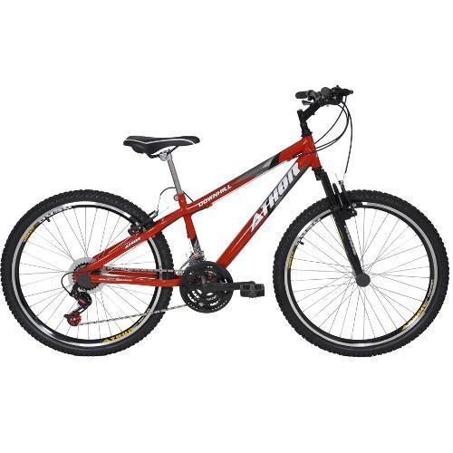 Bicicleta Athor Bike Downhill Ii Aro 26 Susp. Dianteira 21 Marchas - Vermelho