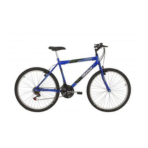 Bicicleta Status Bike Lenda Aro 26 Rígida 18 Marchas - Azul