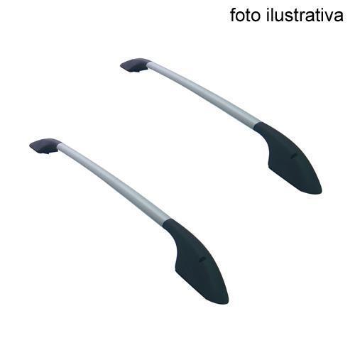 Rack Longitudinal Fiesta Hatch 2003 em Diante - Fura Teto - Fixado Com Rebite - Sport - Par Bajarack