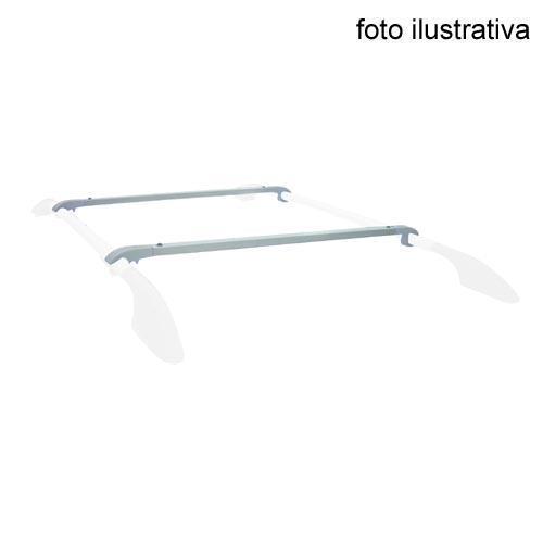 Travessa P/ Rack Clio 2003 em Diante - Somente para Rack Longitudinal - Prata - Par Bajarack