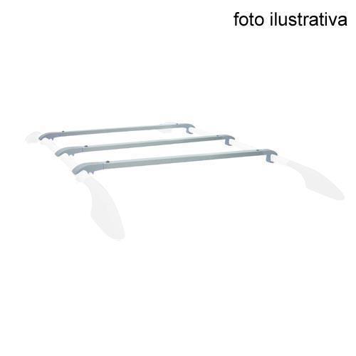 Travessa P/ Rack Zafira - para Rack Longitudinal Original - 3 Peças - Prata - Jogo Bajarack