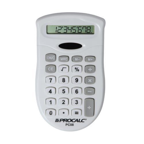 Calculadora Pesoal 8 Dígitos Branca/cinza Pc08 Procalc