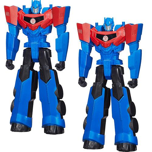 Bonecos 2 Transformers Titan Hero Optimus Prime Hasbro
