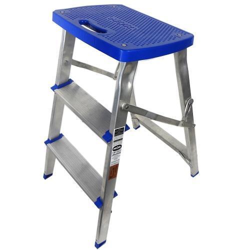 Escada Banqueta de Alumínio Doméstica 3 Degraus 51079 Mor