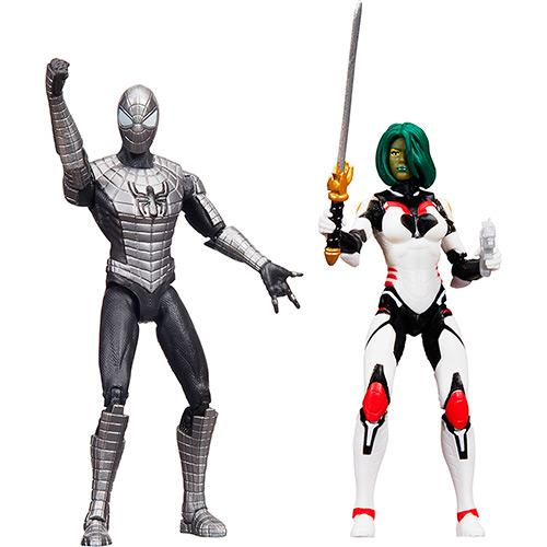 Bonecos Marvel Legends Spider Man Blindado e Gamora Hasbro