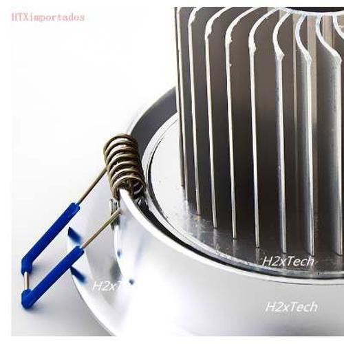 Lâmpada Embralumi Kit Spot de Led 7w Direcionável Redondo Alumínio