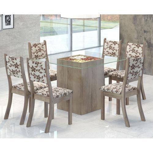 Conjunto de Mesa e Cadeira Toquio 6 Cadeiras Viero Móveis