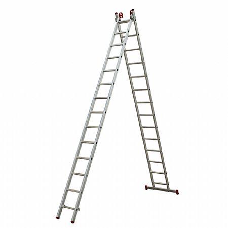 Escada de Alumínio Extensiva 2x14 28 Degraus Esc0623 Escada