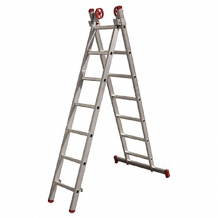 Escada de Alumínio Extensiva 2x7 14 Degraus Esc0616 Botafogo