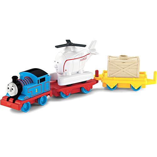 Conjunto Thomas & Friends Trackmaster Thomas e Harold Gira-gira X0630 Mattel