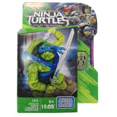 Mattel Mega Bloks Tartarugas Ninja Leonardo Camuflado
