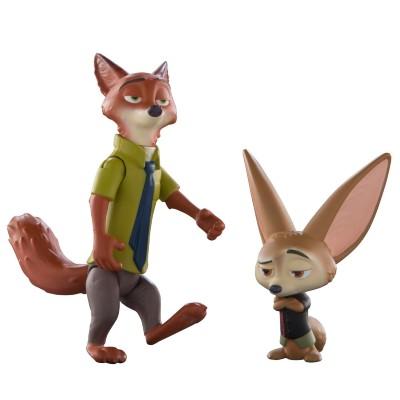 Figura Zootopia Nick e Finnick Sunny Brinquedos