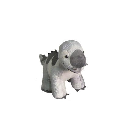 Pelúcia Dino Pequeno Cinza New Toys