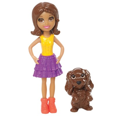 Boneca Polly Pocket Mattel Shani - Com Bichinho