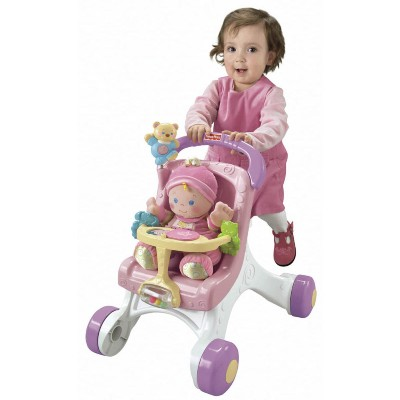 Andador Fisher Price Rosa e Roxo Bebê Mattel