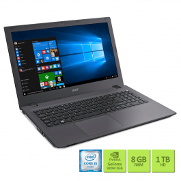 Notebook - Acer E5-574g-574l I5-6200u 2.30ghz 8gb 1tb Geforce 940m Windows 10 Aspire e 15,6
