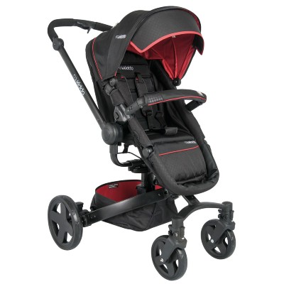 Carrinho de Bebe Kiddo Spin 360 Preto e Vermelho