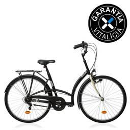 Bicicleta B'twin Elops 300 Tg Aro Rígida 6 Marchas - Preto
