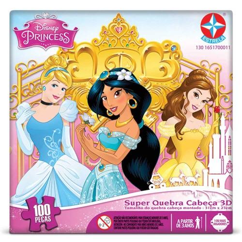 Quebra Cabeça Princesas Super 3d 63 Peças Estrela