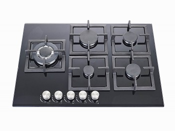 Cooktop 5 Bocas Criss Air Preto - Gás - Nct 25 G4
