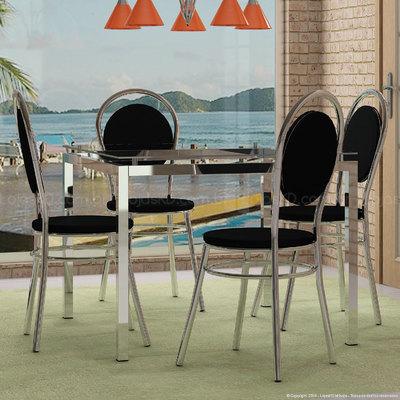 Conjunto de Mesa e Cadeira Gabriela 4 Cadeiras Criativa