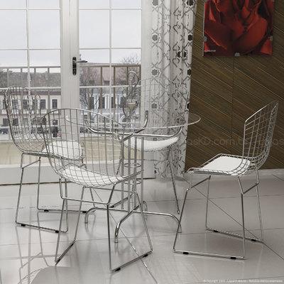 Conjunto de Mesa e Cadeira Karine 4 Cadeiras Criativa