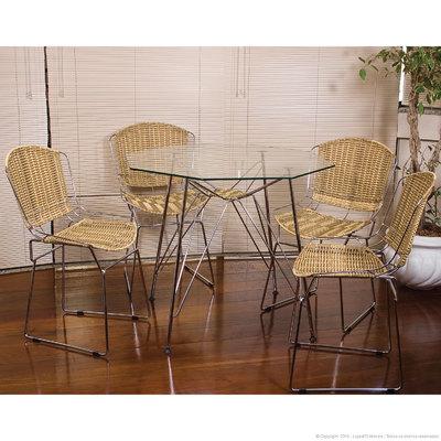 Conjunto de Mesa e Cadeira Monica 4 Cadeiras Criativa