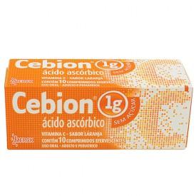 Cebion 1g Tb 10 Past Efv S/ Acucar - Acido Ascorbico - Merck
