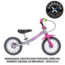Bicicleta B'twin Run Ride Balance Aro Rígida - Azul/branco