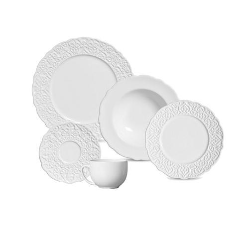 Aparelho de Jantar e Chá Marrakech Branco 30 Peças - Porto Brasil