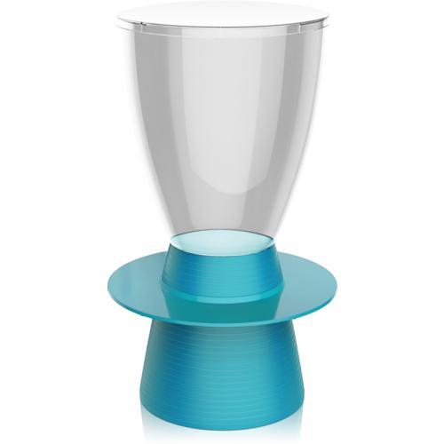 Banqueta Tinn Assento Cristal Base Color Azul I\u0027m In Home