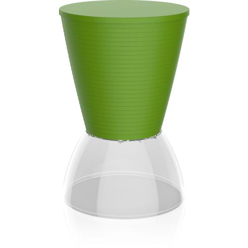 Banqueta Nick Assento Color Base Cristal Verde I\u0027m In Home