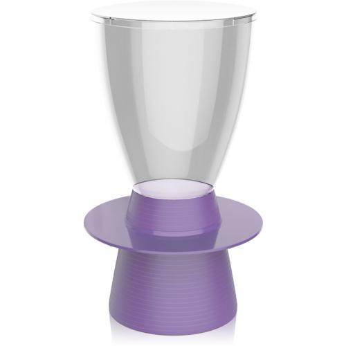 Banqueta Tinn Assento Cristal Base Color Roxa I\u0027m In Home