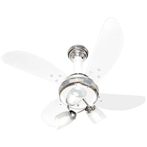 Ventilador de Teto 4 Pás Venti Delta Sideral Branco Cm - 220v