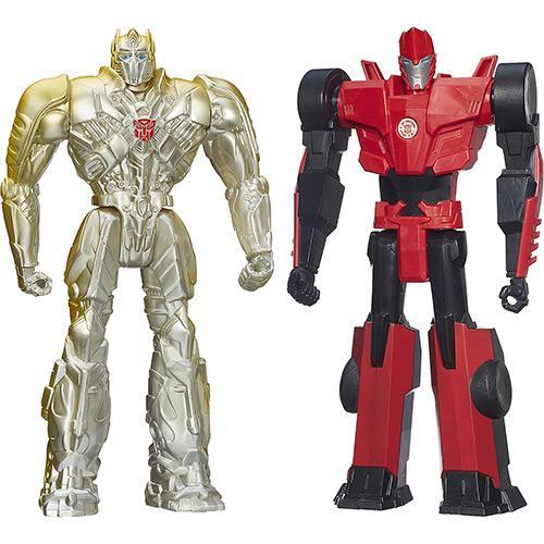 Bonecos Transformers 12 Silver Knight Prime Sideswipe Hasbro