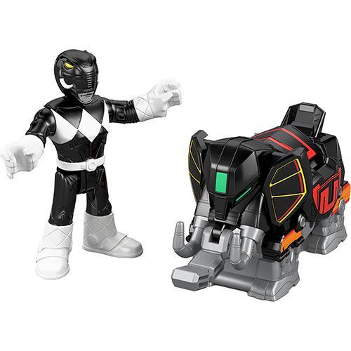 Boneco Imaginext Power de Batalha Power Rangers Preto Mattel