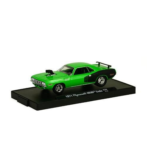 Carrinho Plymouth Hemi Cuda 1971 R30 1:64 M2 Machines